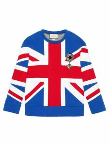 Gucci Union Jack jersey sweatshirt - Red