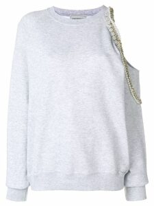 Forte Dei Marmi Couture Cindy Crawford embellished sweatshirt - Grey