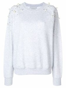Forte Dei Marmi Couture embellished sweatshirt - Grey