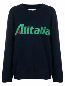 Alberta Ferretti Alitalia patch sweatshirt - Blue
