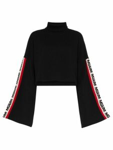 MSGM black side stripe logo sweater