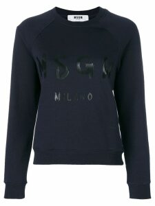 MSGM branded sweatshirt - Blue