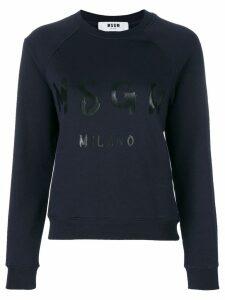 MSGM branded sweatshirt - Blue