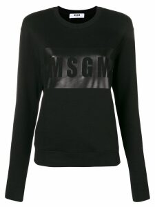 MSGM logo outline sweatshirt - Black