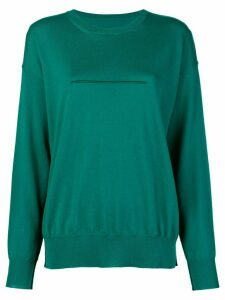 Mm6 Maison Margiela seam detail sweatshirt - Green