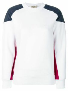 Maison Kitsuné patch sweatshirt - White
