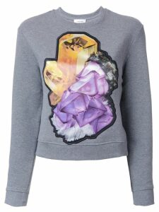 Carven crystal motif sweatshirt - Grey