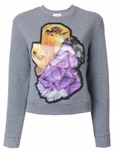 Carven crystal motif sweatshirt - Grey