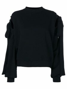 Ioana Ciolacu sweater with tie sleeves - Black