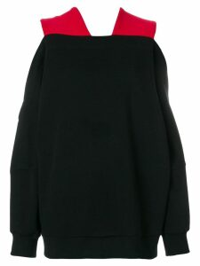 Ioana Ciolacu cutout shoulder sweatshirt - Black