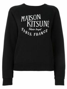 Maison Kitsuné logo print sweatshirt - Black
