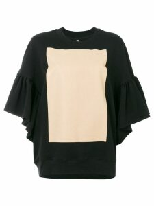 Ioana Ciolacu sweatshirt with ruffled sleeves - Black