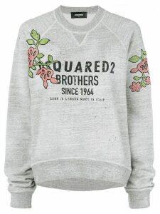 Dsquared2 flower patch logo sweatshirt - Grey