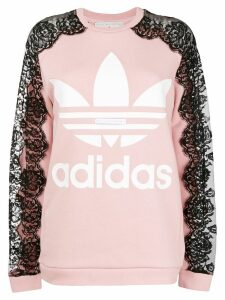 adidas by Stella McCartney lace sleeve sweatshirt - Pink