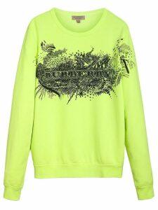 Burberry doodle print sweatshirt - Yellow