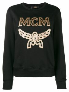 MCM embroidered logo sweatshirt - Black
