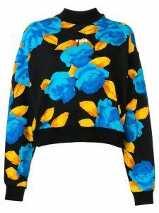 MSGM floral sweatshirt - Black