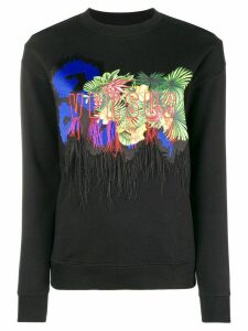 Versus print jersey sweater - Black