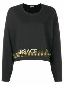 Versace Jeans Couture studded logo sweatshirt - Black