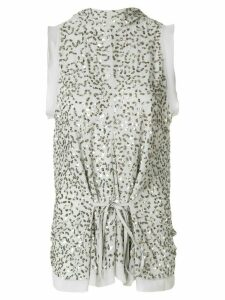 Chloé sequinned high neck top - Metallic