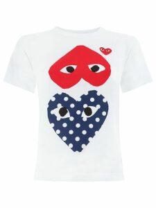 Comme Des Garçons Play hearts print T-shirt - White
