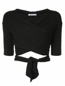 T By Alexander Wang wrap style top - Black