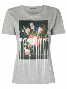 Alexander McQueen floral-printed short-sleeved T-shirt - Grey