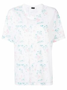 Joseph printed panel short sleeve T-shirt - White
