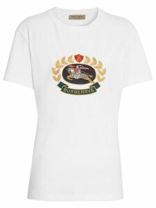 Burberry embroidered archive logo T-shirt - White