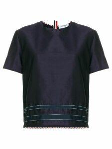 Thom Browne Silk Applique T-shirt - Blue