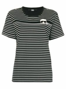 Karl Lagerfeld Ikonik striped T-shirt - Black