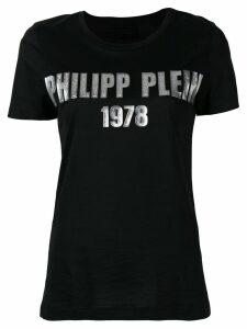 Philipp Plein metallic 1978 logo T-shirt - Black