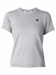 Comme Des Garçons Play embroidered heart T-shirt - Grey