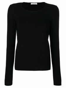 Le Tricot Perugia longsleeved T-shirt - Black