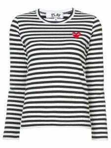 Comme Des Garçons Play striped long sleeved T-shirt - Black