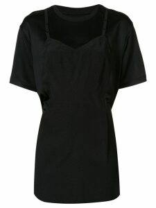 Maison Margiela draped slip detail jersey - Black