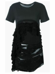 Haider Ackermann high low hem frill T-shirt - Black