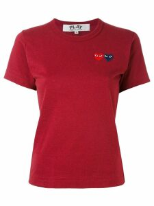 Comme Des Garçons Play heart patch T-shirt - Red