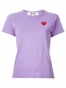 Comme Des Garçons Play heart logo T-shirt - PURPLE
