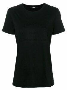 Karl Lagerfeld address motif T-shirt - Black