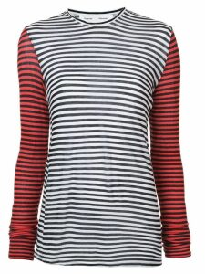 Proenza Schouler PSWL Stripe Long Sleeve Top - Black
