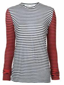 Proenza Schouler PSWL Stripe Long Sleeve Top - Black