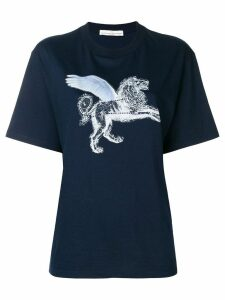 Golden Goose strass lion print T-shirt - Blue