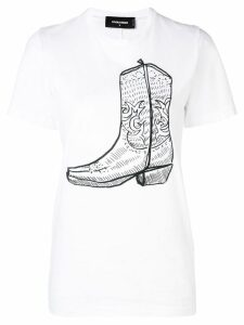 Dsquared2 Boot print T-shirt - White