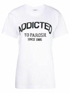 P.A.R.O.S.H. rhinestone logo T-shirt - White