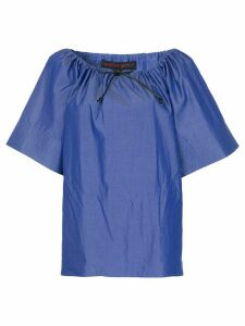 Martin Grant drawstring neck top - Blue