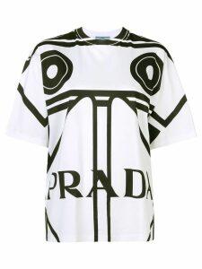Prada oversized logo print T-shirt - White