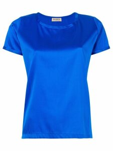 Blanca Vita metallic short-sleeve top - Blue