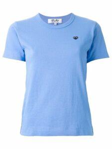 Comme Des Garçons Play embroidered logo T-shirt - Blue