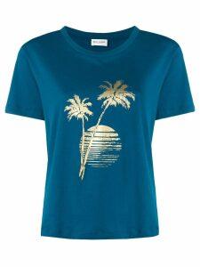Saint Laurent sunset print T-shirt - Blue